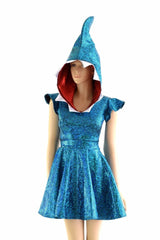 Turquoise Left Shark Skater Dress - Coquetry Clothing