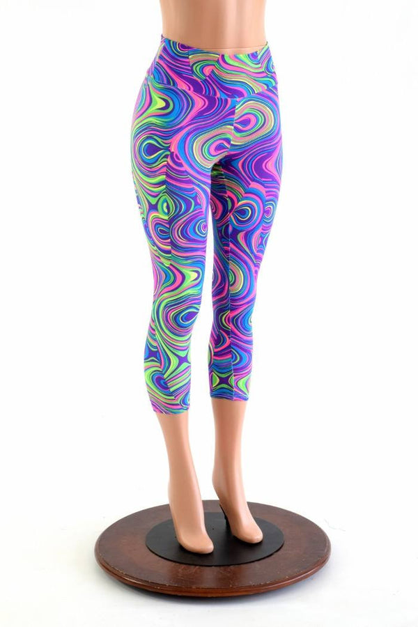 9f4203b5e69d6 Glow Worm High Waist Capri Leggings