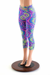 Glow Worm High Waist Capri Leggings
