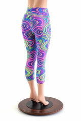 Glow Worm High Waist Capri Leggings - Coquetry Clothing