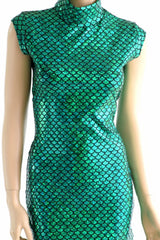 Green Scale Celia Dress - Coquetry Clothing