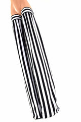 Black & White Stripe Stilt Covers - Coquetry Clothing