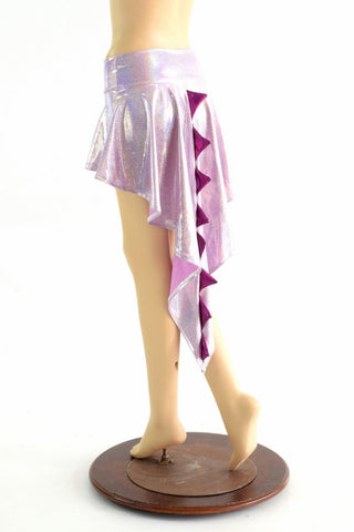 Lilac Purple Holographic  Dragon Tail Skirt - Coquetry Clothing