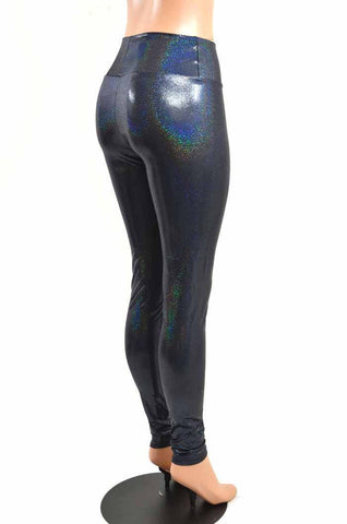 355d58bba18e9 ... Black Holographic High Waist Leggings - Coquetry Clothing ...
