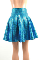 Aquamarine Mermaid Skater Skirt - Coquetry Clothing