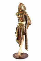 Gold Kimono Dragon Tail Set - Coquetry Clothing