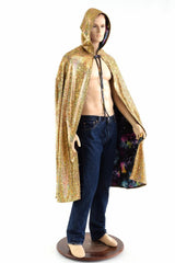 Gold and Galaxy Reversible Cape - Coquetry Clothing