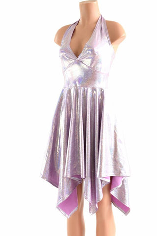 Lilac Purple Pixie Hemline Fairy Dress