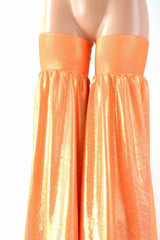 Neon Orange Sparkly Stilt Covers - Coquetry Clothing