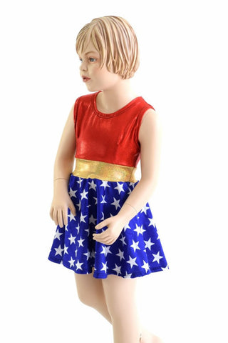 Girls Super Hero Skater Dress - Coquetry Clothing