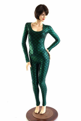 Mera Long Sleeve Scoop Neck Catsuit - Coquetry Clothing