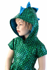 Girls Dragon Hooded Skater Dress - Coquetry Clothing