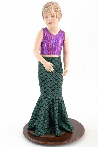 Girls Mermaid Skirt & Top Set