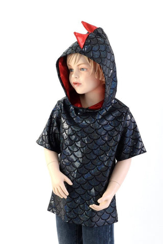 Childrens Black & Red Dragon Hoodie - Coquetry Clothing