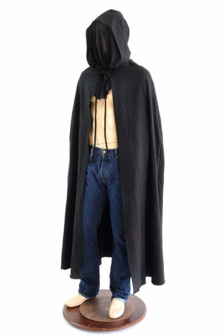 Grim Reaper Cape with Mesh Face Obscurer - Coquetry Clothing