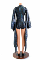 Kimono Sleeve Plunging V Neck Romper - Coquetry Clothing