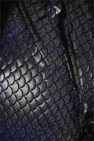 Black Dragon Scale Fabric Coquetry Clothing
