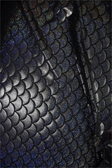 Black Dragon Scale Fabric - Coquetry Clothing