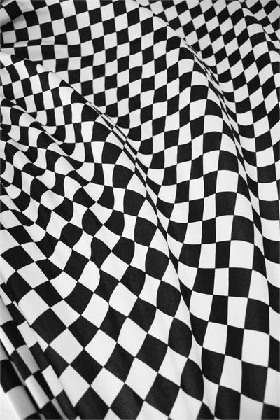 Uv Black Amp White Checkered Fabric Coquetry Clothing