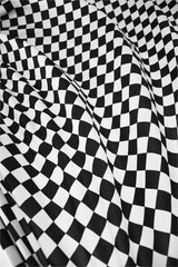 UV  Black & White Checkered Fabric - Coquetry Clothing