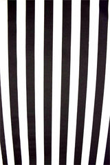 UV Black & White Stripe Spandex Fabric - Coquetry Clothing