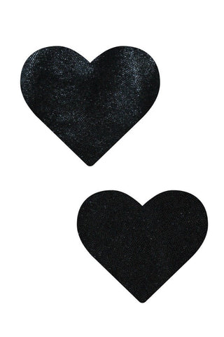 Black Mystique Heart Pasties - Coquetry Clothing
