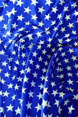 Blue & White Star Print