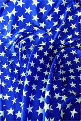 Blue & White Star Print - Coquetry Clothing