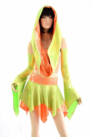 Weekender III Pixie Edition in Lime Holo & Orange Sparkly - Coquetry Clothing