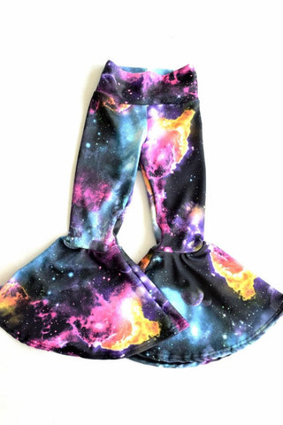 Kids UV Glow Galaxy Bell Bottoms - Coquetry Clothing