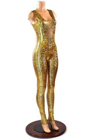 Gold Mermaid Tank Catsuit - Coquetry Clothing