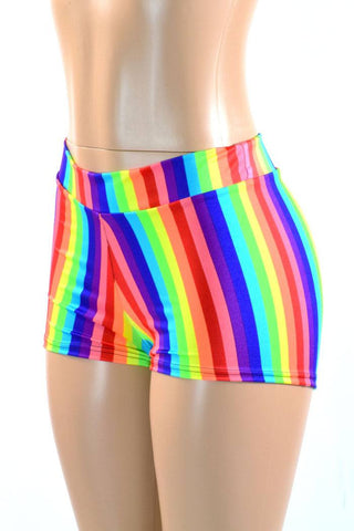 Rainbow Mid Rise Shorts - Coquetry Clothing