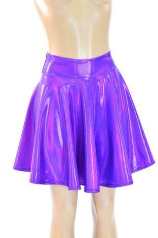 Holographic Skater Skirt - Coquetry Clothing
