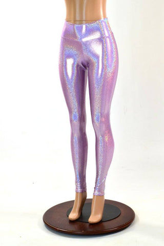 Lilac High Waist Leggings - Coquetry Clothing