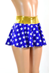 Blue & White Star Circle Skirt - Coquetry Clothing