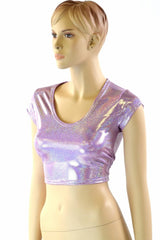 Lilac Cap Sleeve Crop - Coquetry Clothing