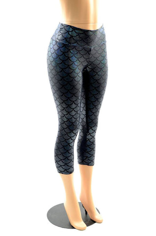 Black Mermaid Capri Leggings - Coquetry Clothing