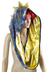 HUGE Black & Gold Dragon Festival Hood - Coquetry Clothing