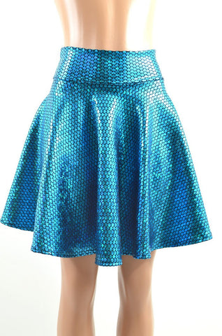 Aquamarine Mermaid Skater Skirt