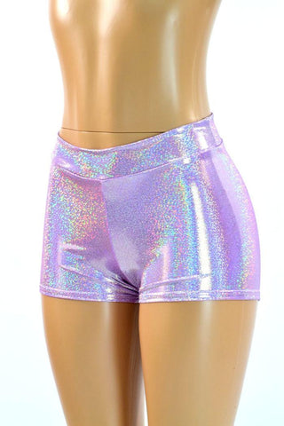 Lilac Midrise Shorts - Coquetry Clothing