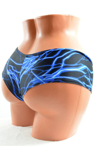 Blue Lighting Cheeky Shorts - Coquetry Clothing