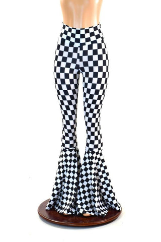 Black & White Checkered Bell Bottoms