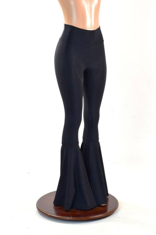 Black Soft Knit Bell Bottoms - Coquetry Clothing