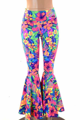 Tahitian Floral Bell Bottoms