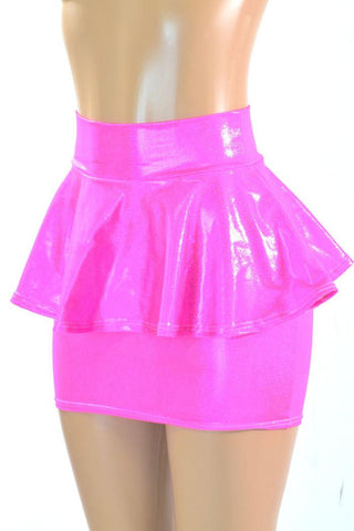 Bodycon Peplum Skirt -Choose Color