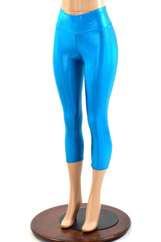 Peacock High Waist Capri Leggings - Coquetry Clothing
