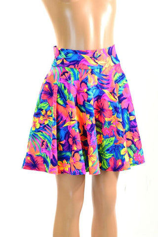 Tahitian Floral Pocket Skater - Coquetry Clothing