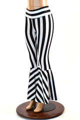 Striped High Waist Bell Bottom Flares - Coquetry Clothing