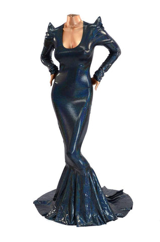 Wicked Black Holographic Gown - Coquetry Clothing