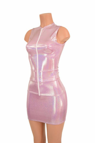 Lilac Full Length Top & Bodycon Skirt Set - Coquetry Clothing